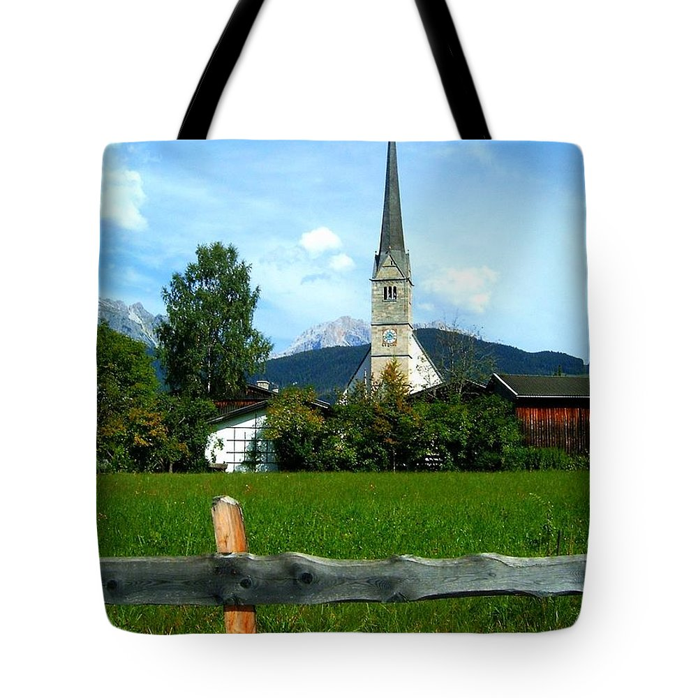Europe Tote Bag featuring the photograph Maria Alm by Juergen Weiss
