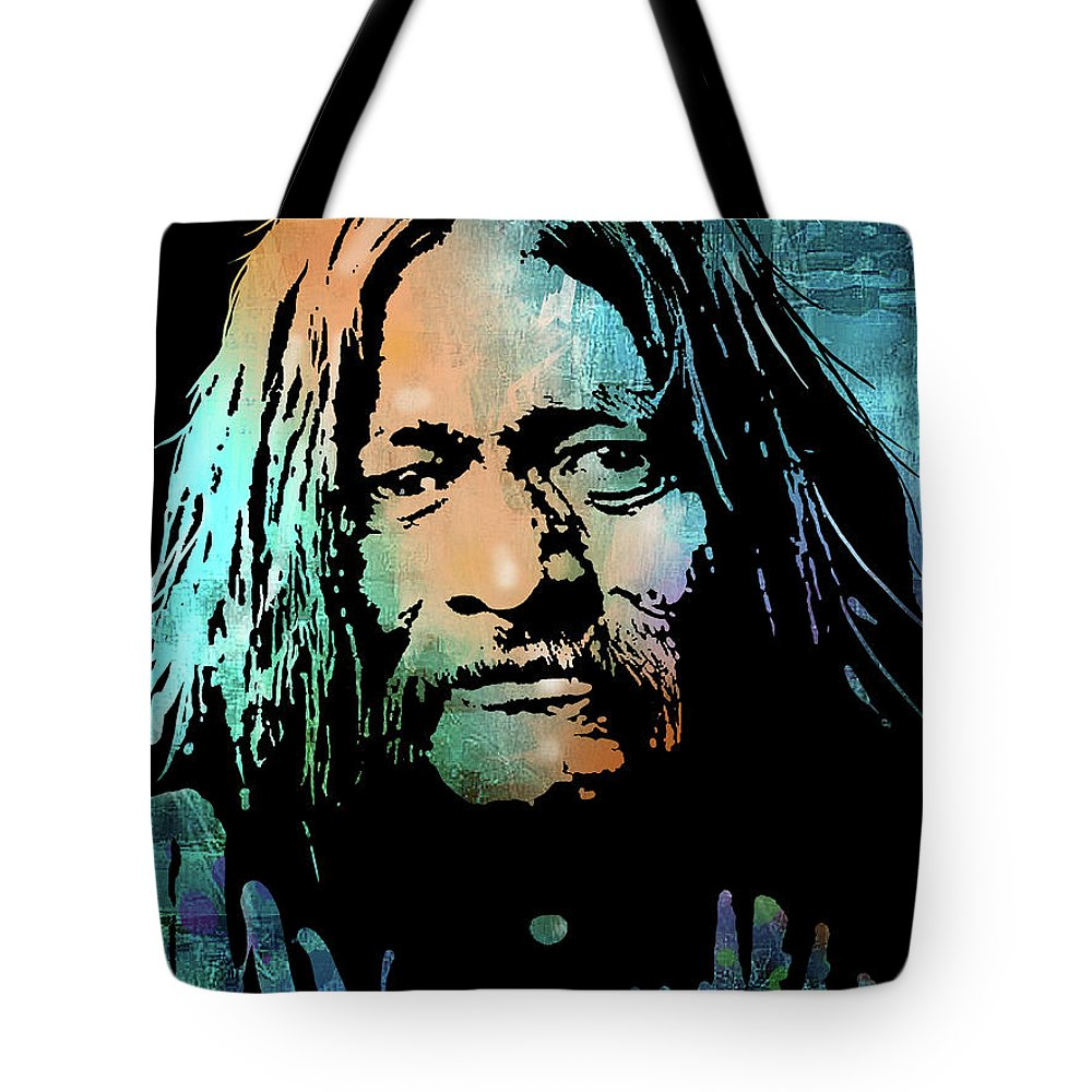 Native Americans Tote Bag featuring the painting Maricopa Warrior by Paul Sachtleben