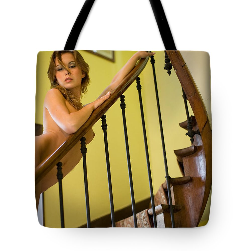 Sensual Tote Bag featuring the photograph Marie by Olivier De Rycke
