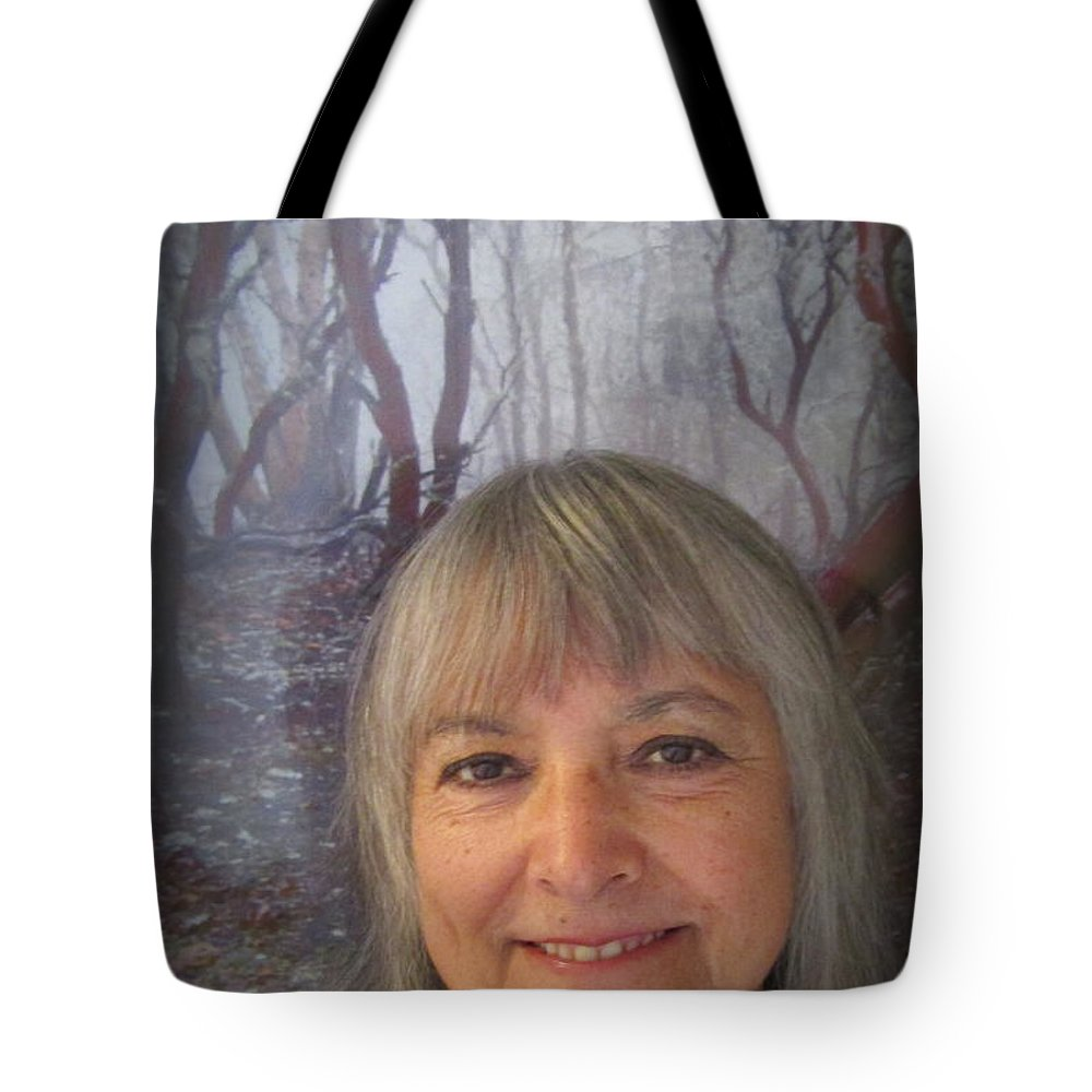 Marie Tote Bag featuring the photograph Marie With Cathedral Hills Behind Me by Marie Neder