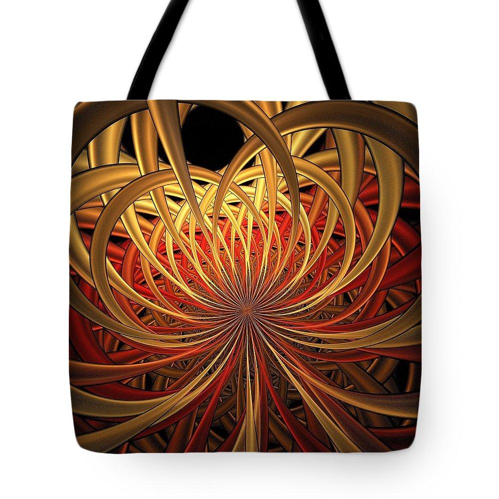 Digital Art Tote Bag featuring the digital art Marigold by Amanda Moore