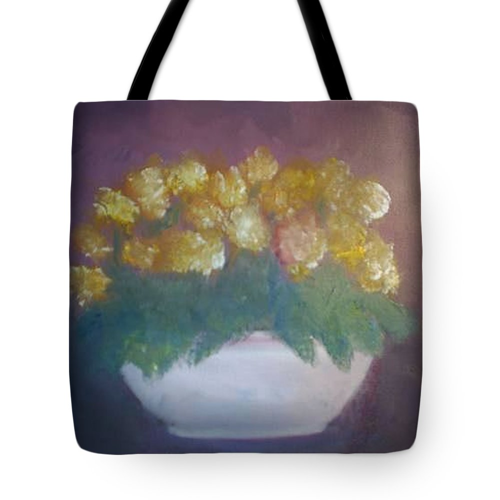 Marigolds Tote Bag featuring the painting Marigolds by Sheila Mashaw