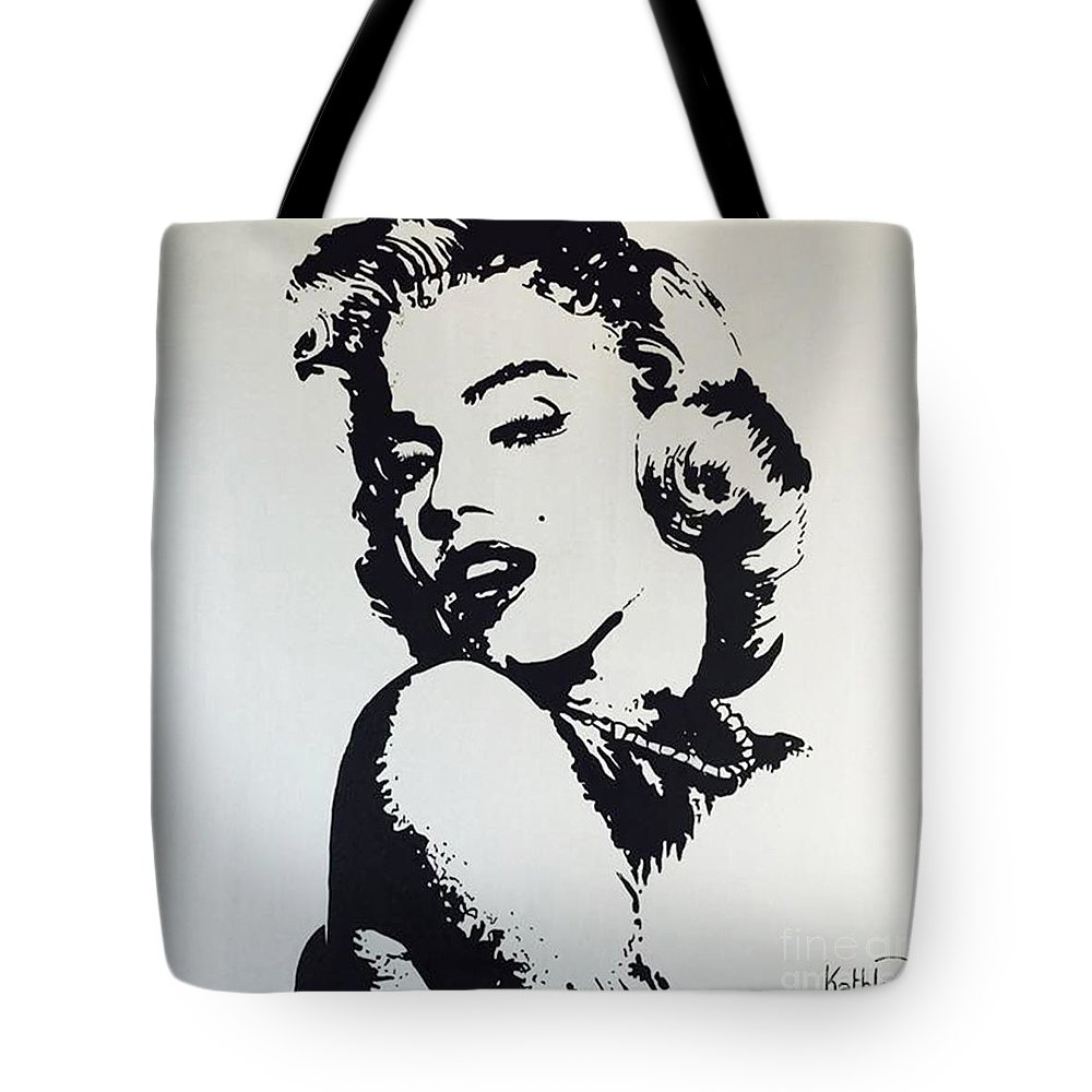 Marilyn Monroe Tote Bag featuring the painting Marilyn Monroe   Glamour by  Kathleen Artist 1749a7c073
