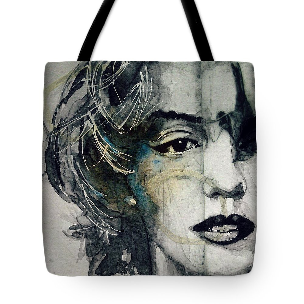 Marilyn Monroe Tote Bag featuring the mixed media Marilyn Monroe - Wicked  Games by Paul Lovering 9874854fd0