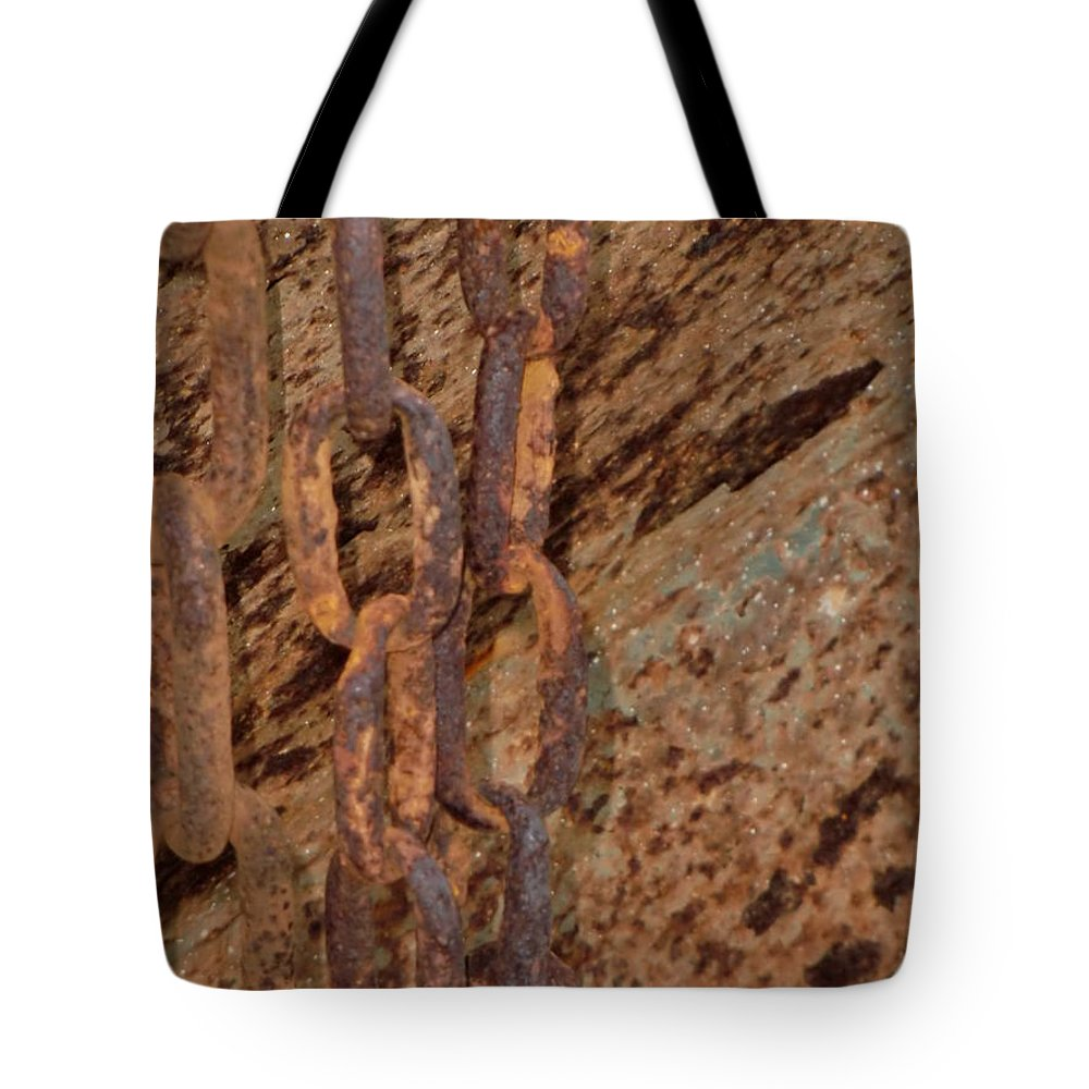 Abstract Tote Bag featuring the photograph Marine Chain by Chris Colibaba