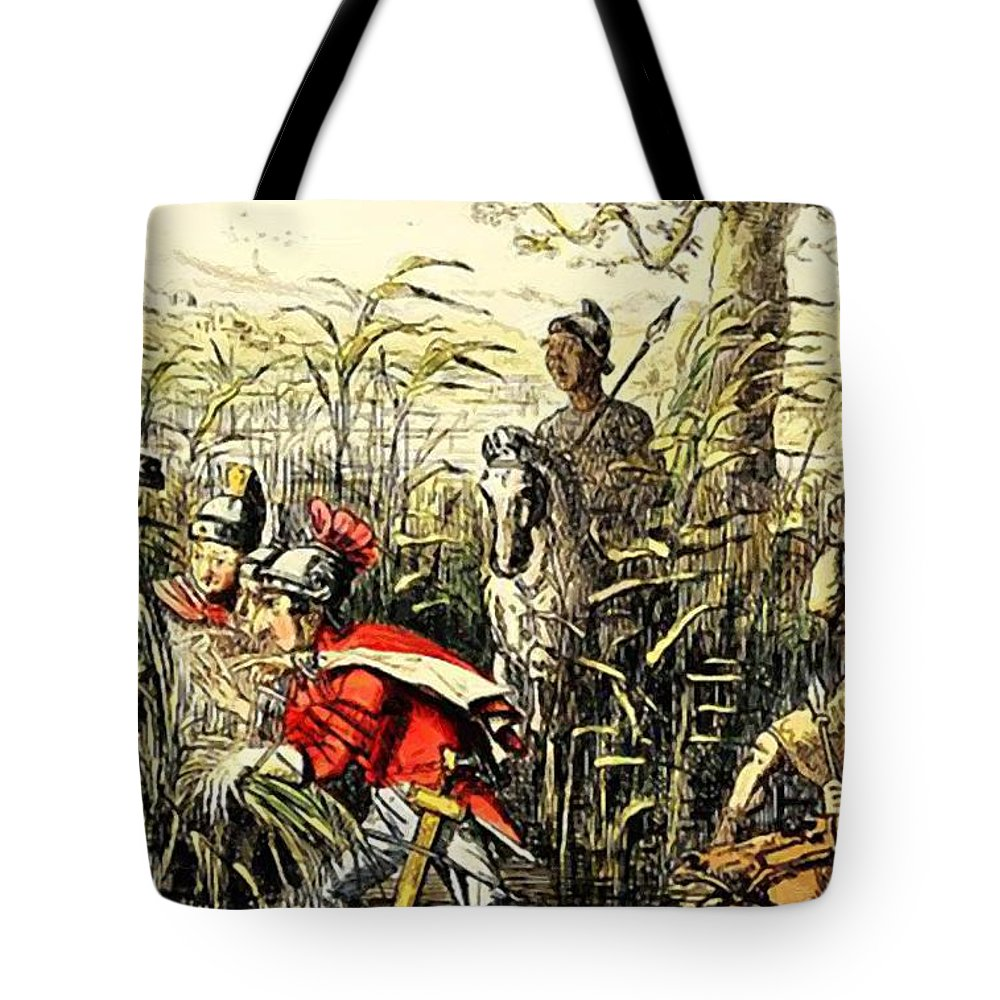 Marius Tote Bag featuring the painting Marius Discovered In The Marshes At Minturn by Leech John