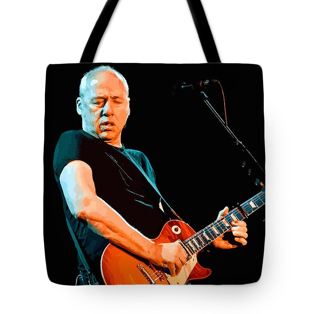 Comics Tote Bag featuring the digital art Mark Knopfler by Don Kuing