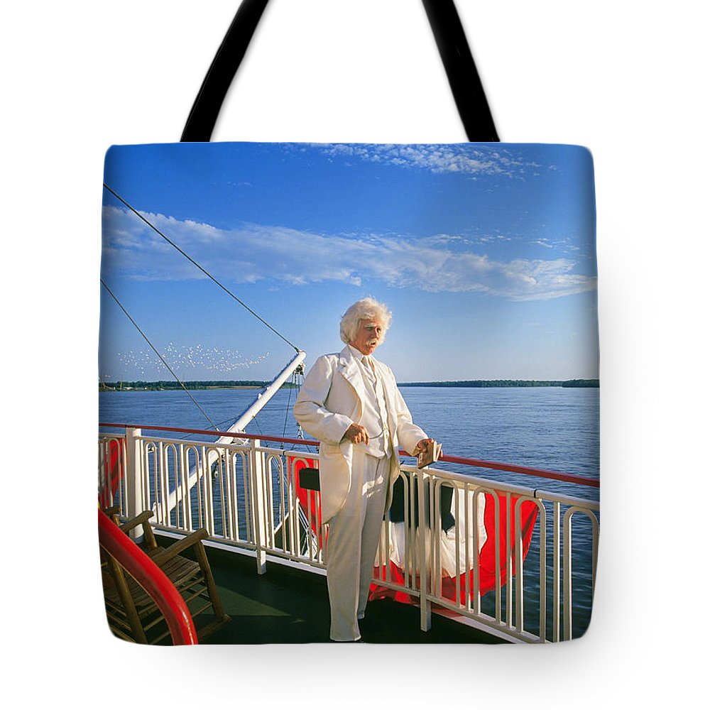 Mark Tote Bag featuring the photograph Mark Twain II by Buddy Mays