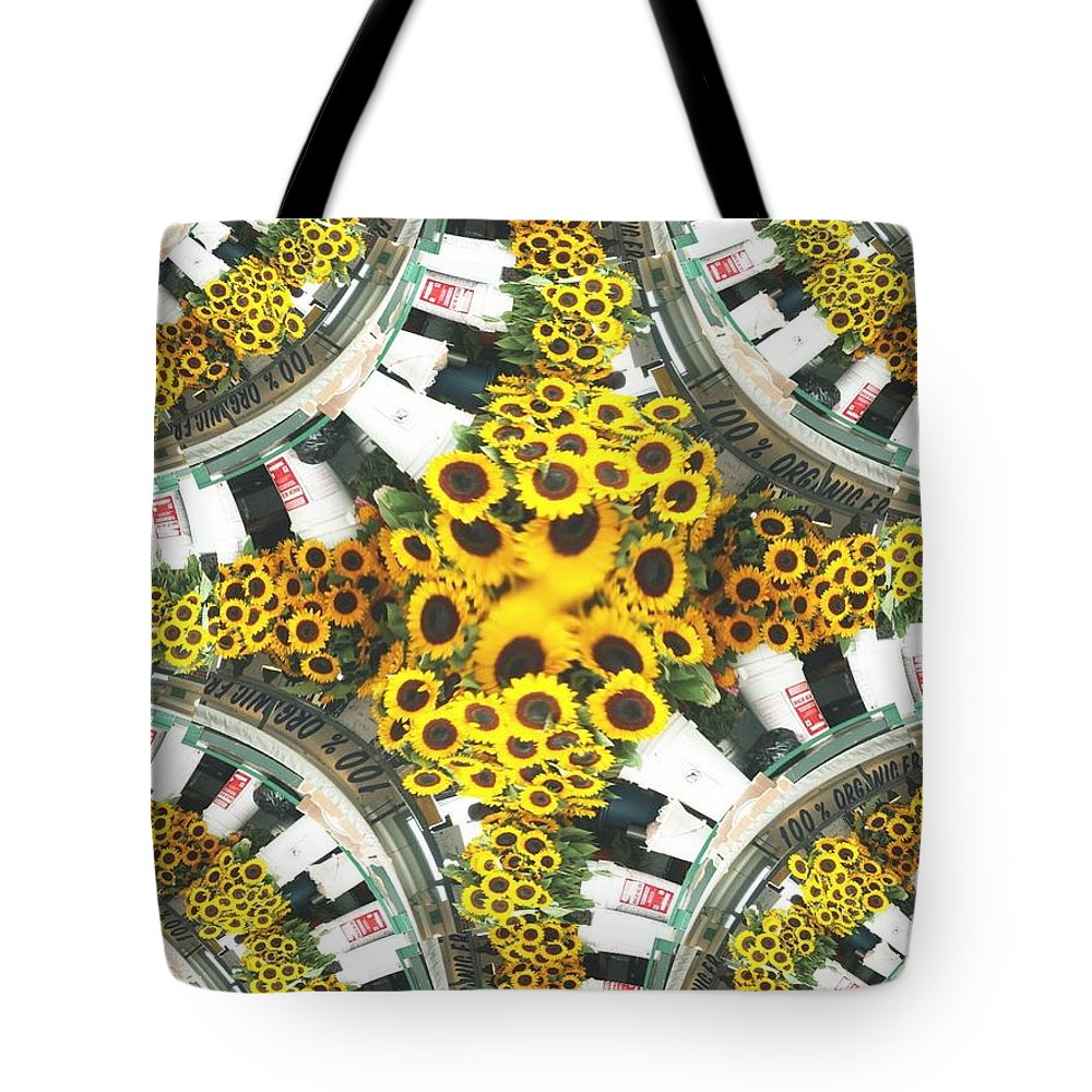 Flowers Tote Bag featuring the photograph Market Flowers by Tim Allen