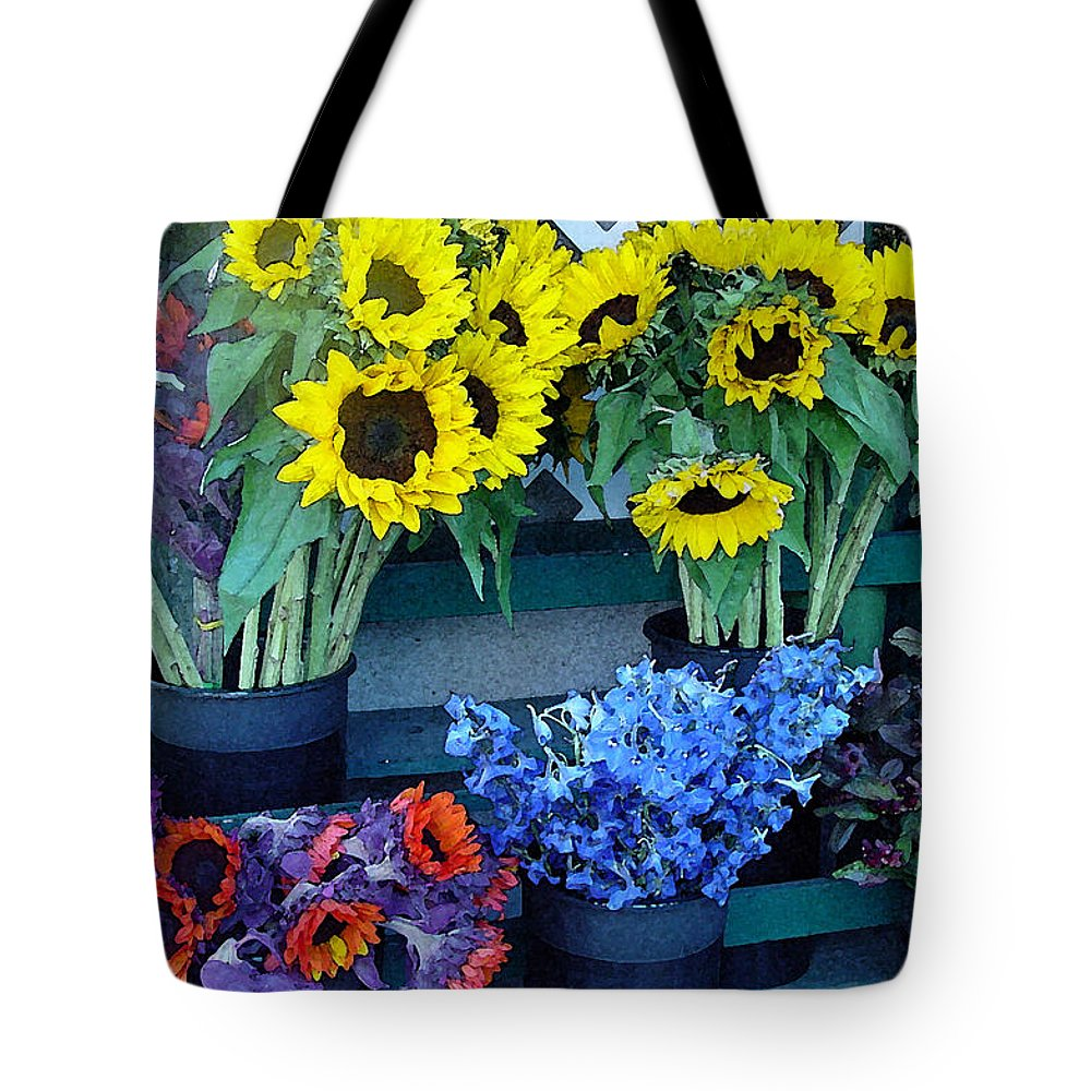 Digital Art Tote Bag featuring the photograph Market Fresh In Watercolor by Suzanne Gaff