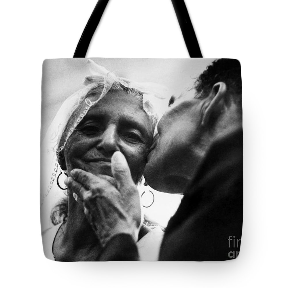 100 Tote Bag featuring the photograph Marrying At 100 by Granger