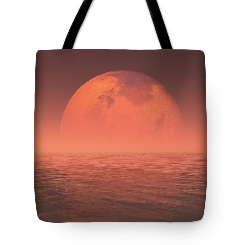 Space Tote Bag featuring the digital art Mars by Jay Salton