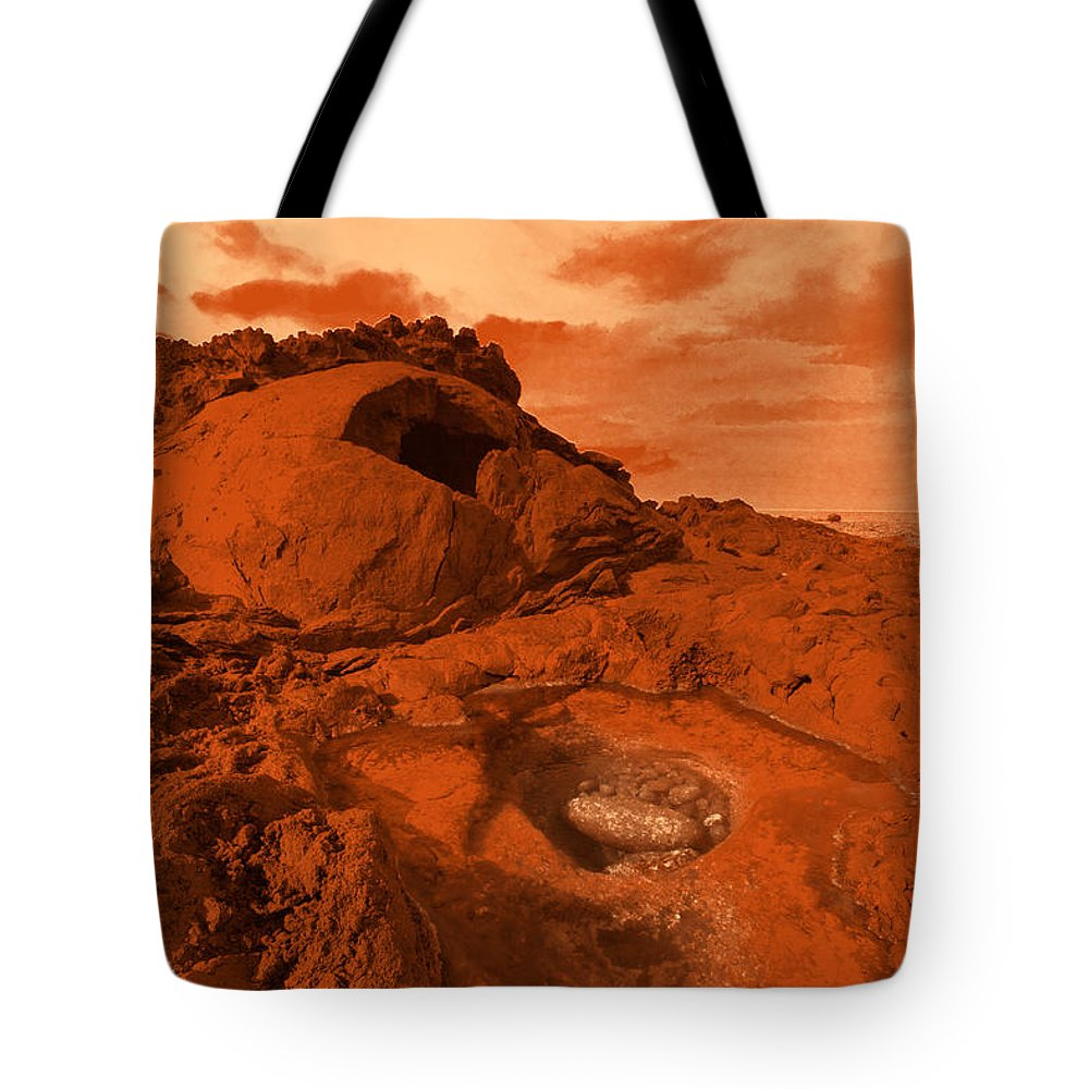 Alien Tote Bag featuring the photograph Mars Landscape by Gaspar Avila