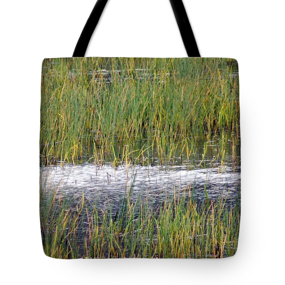 Grasses Tote Bag featuring the photograph Marsh Grasses by William Tasker