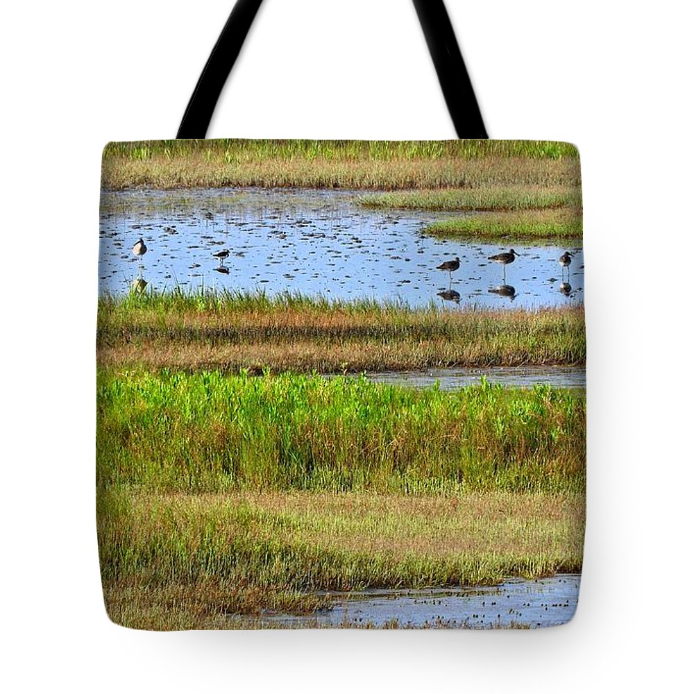 Coastal Tote Bag featuring the photograph Marsh Tide Pool by Laura Ragland