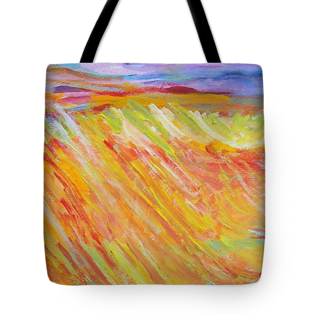 Abstract Tote Bag featuring the painting Marshlands by Judith Redman