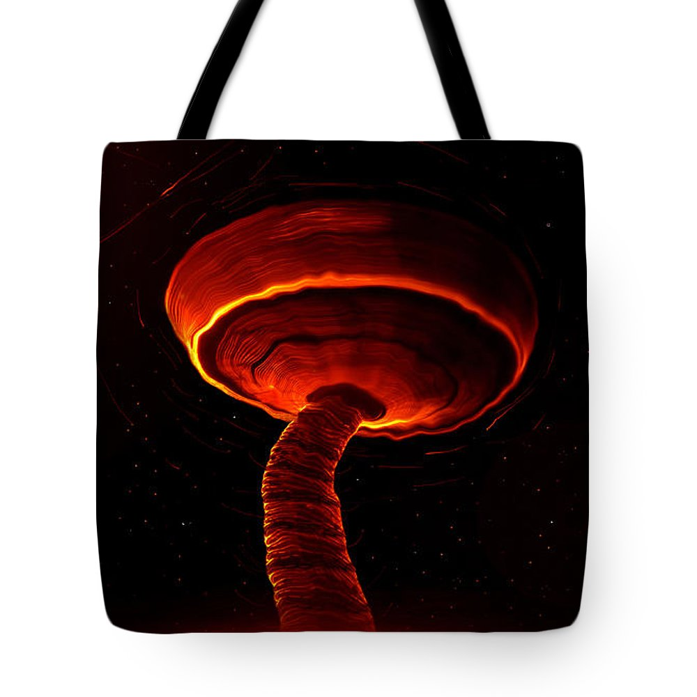 Martian Dust Devil Tote Bag featuring the painting Martian Dust Devil by David Lee Thompson
