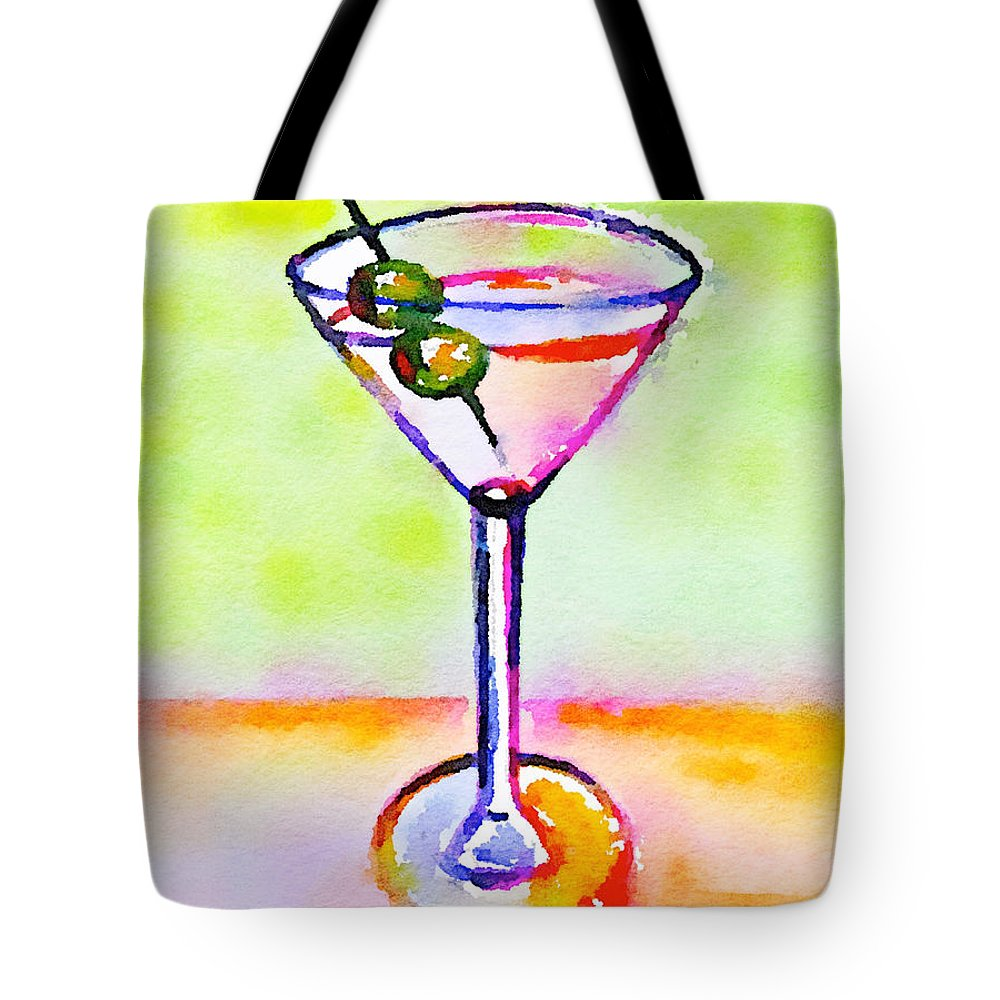 Martini Tote Bag featuring the painting Martini Anyone? 2 by Vanessa Katz