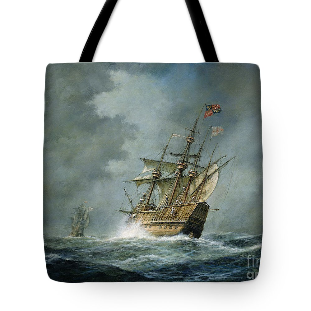 Mary Rose Tote Bag featuring the painting Mary Rose by Richard Willis