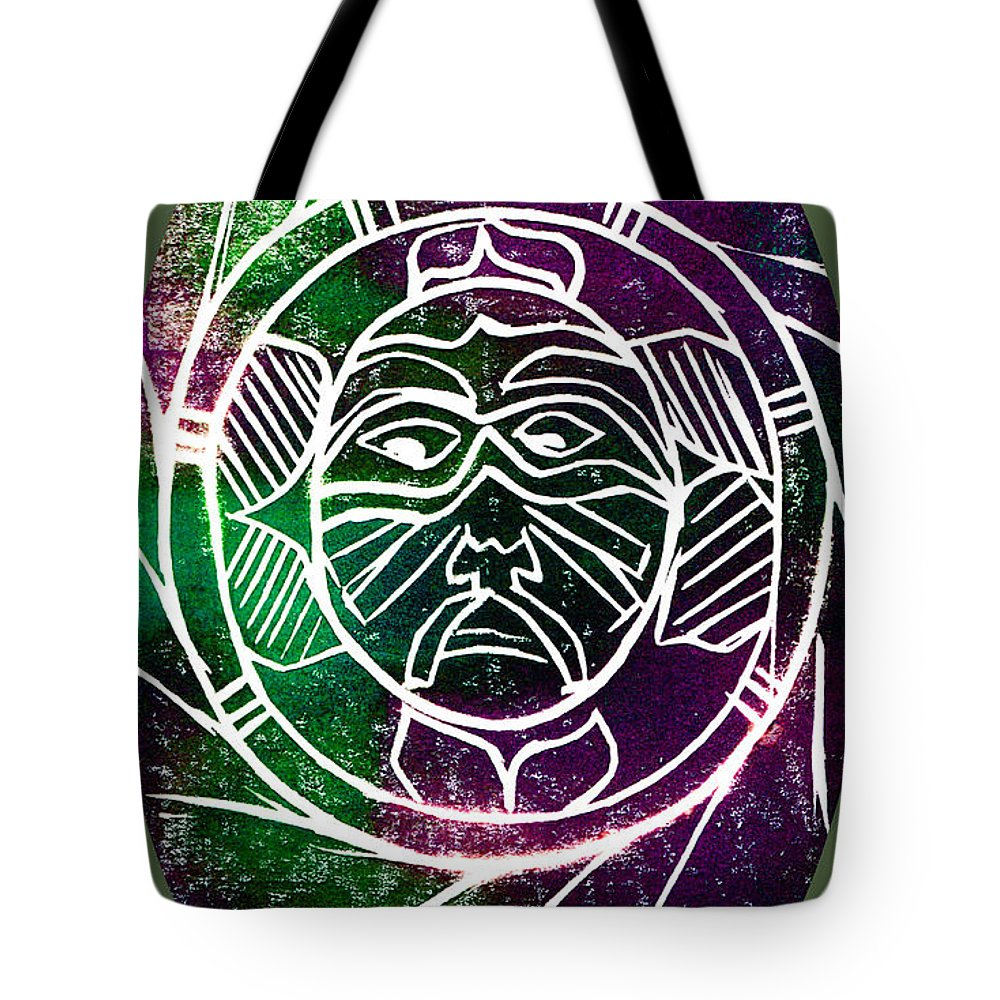Mask Tote Bag featuring the painting Mask by Brenda Owen