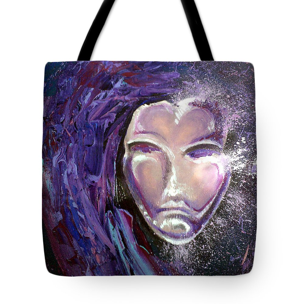 Mardi Gras Tote Bag featuring the painting Mask by Kevin Middleton