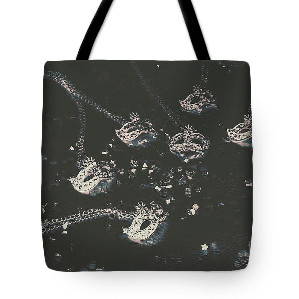 Party Tote Bag featuring the photograph Masks From The Dark Carnival by Jorgo Photography - Wall Art Gallery