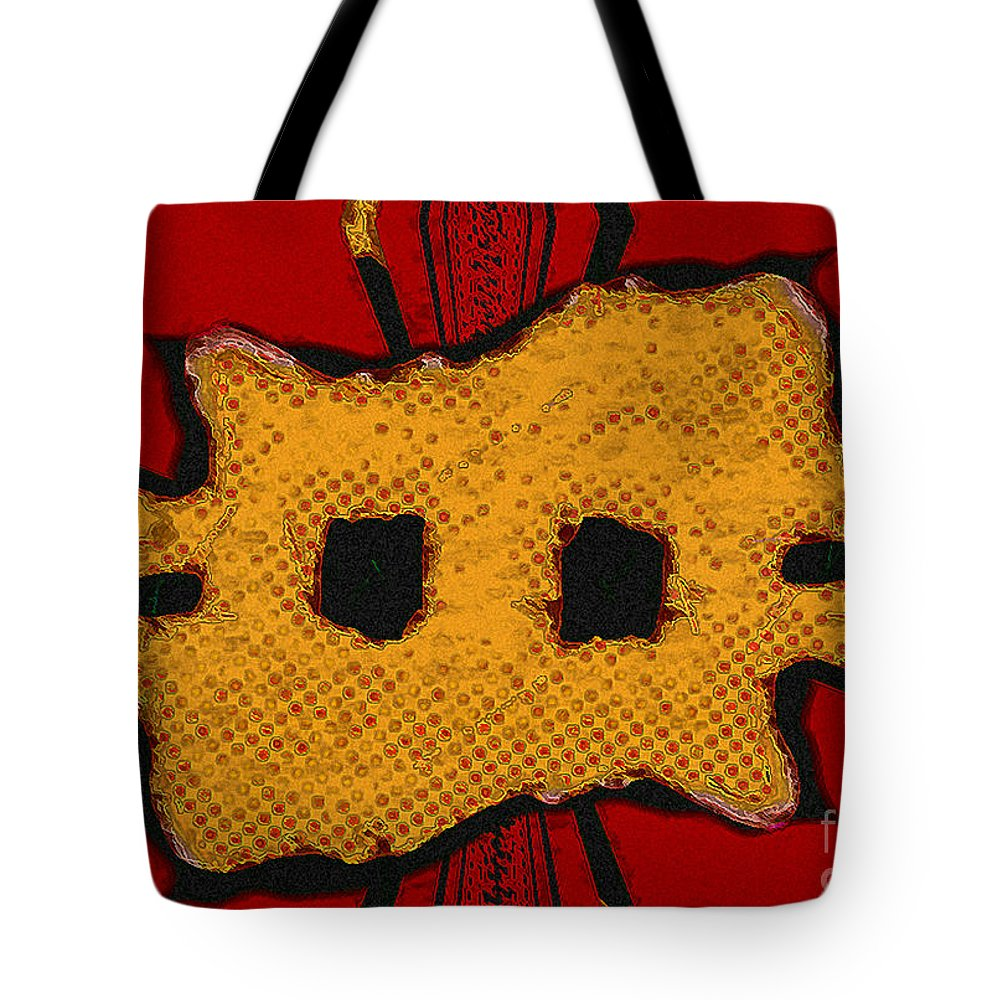 Orange Tote Bag featuring the digital art Masquerade 1 by Dee Flouton