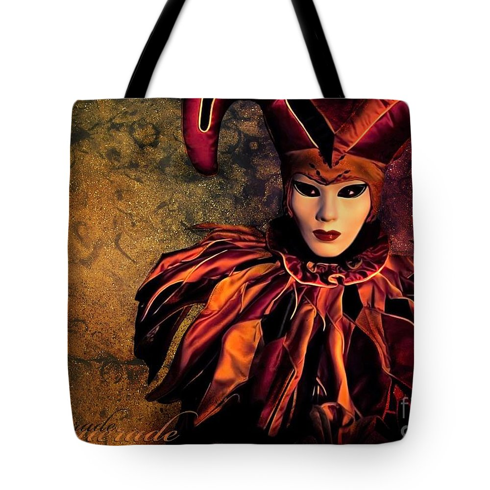 Mask Tote Bag featuring the photograph Masquerade by Jacky Gerritsen