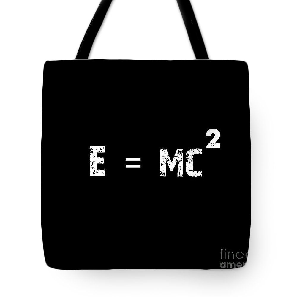 Mass Energy Equivalence Poster Tote Bag featuring the painting Mass Energy Equivalence Poster by Celestial Images