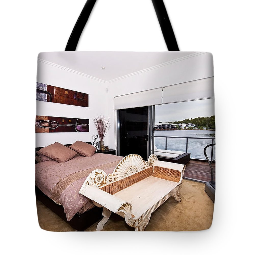 Master Tote Bag featuring the photograph Master Bedroom With A View by Darren Burton