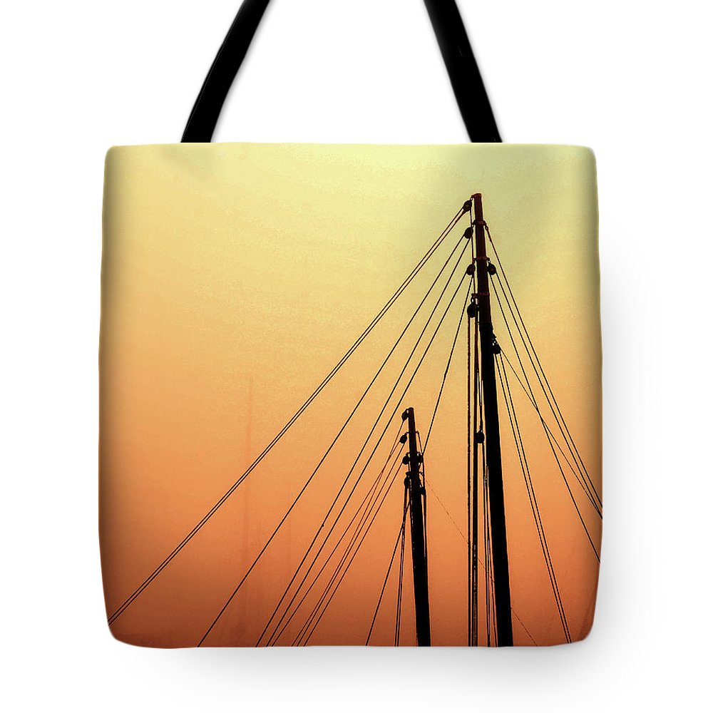 Masts Tote Bag featuring the photograph Masts by Coleman Mattingly