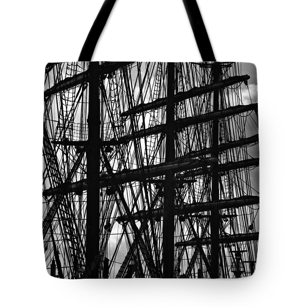 Ship Tote Bag featuring the photograph Masts by David Halperin