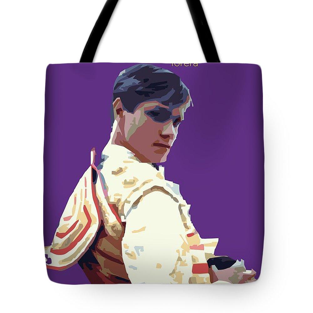 Torero Tote Bag featuring the digital art Spanish Matador by Joaquin Abella