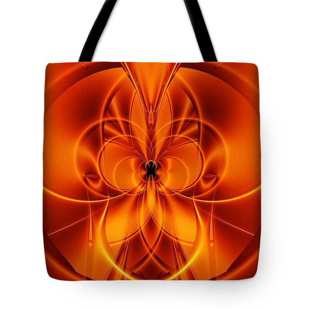 Fractal Tote Bag featuring the digital art Matera by Melanie Mertens
