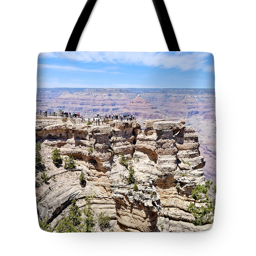 Mather Point Tote Bag featuring the photograph Mather Point At The Grand Canyon by Julie Niemela