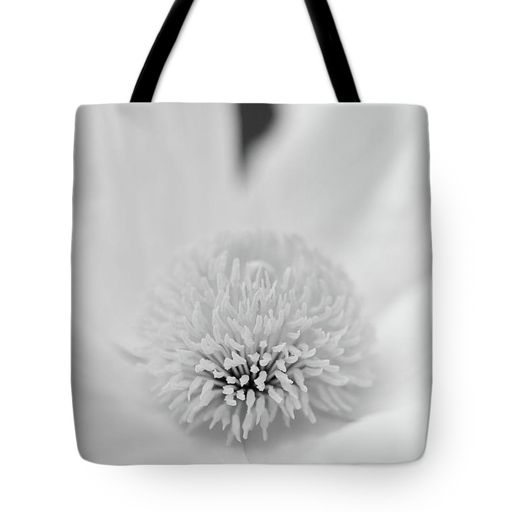 Matilija Poppy Photographs Photographs Tote Bag featuring the photograph Matilija One In Black by Brooke Roby