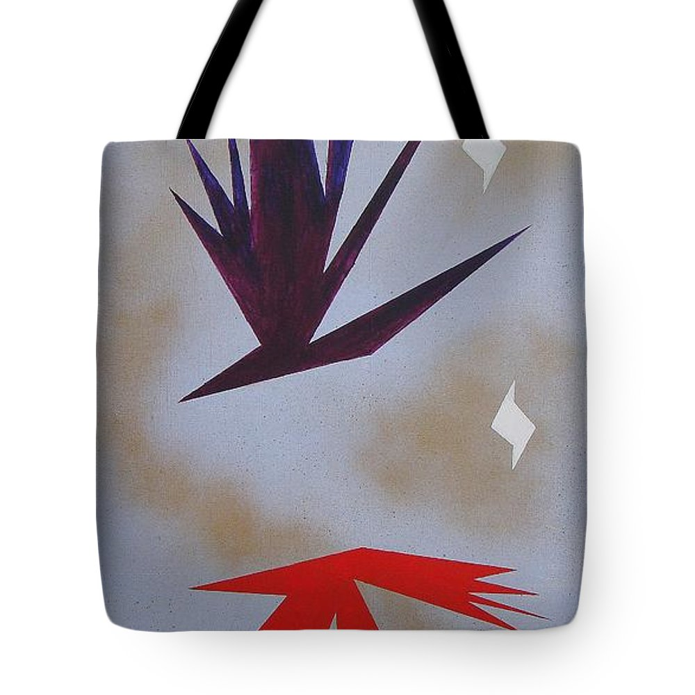 Birds Tote Bag featuring the painting Mating Ritual by J R Seymour