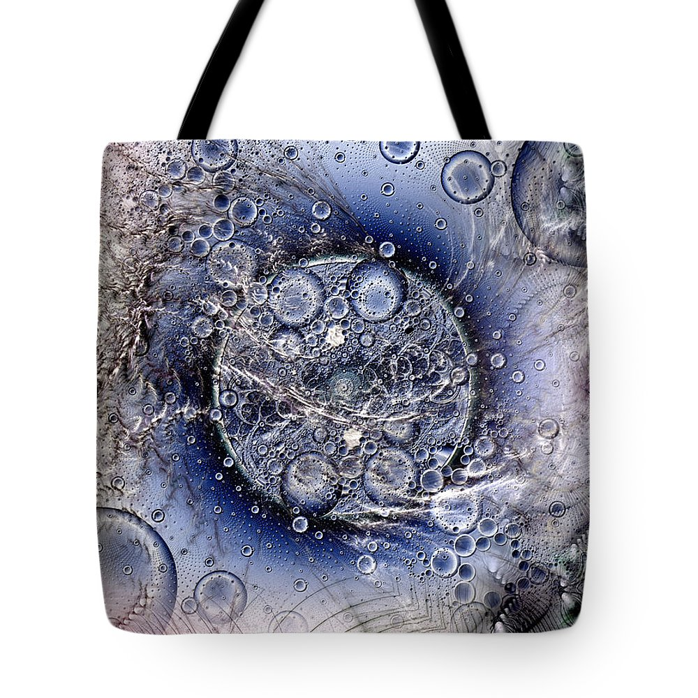 Abstract Tote Bag featuring the digital art Matter From Another Perspective by Casey Kotas