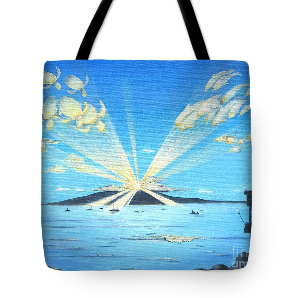 Maui Tote Bag featuring the painting Maui Magic by Jerome Stumphauzer