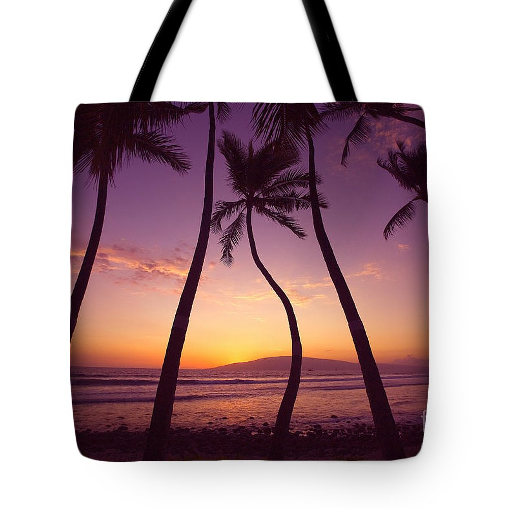 Beach Tote Bag featuring the photograph Maui Palms by Ron Dahlquist - Printscapes