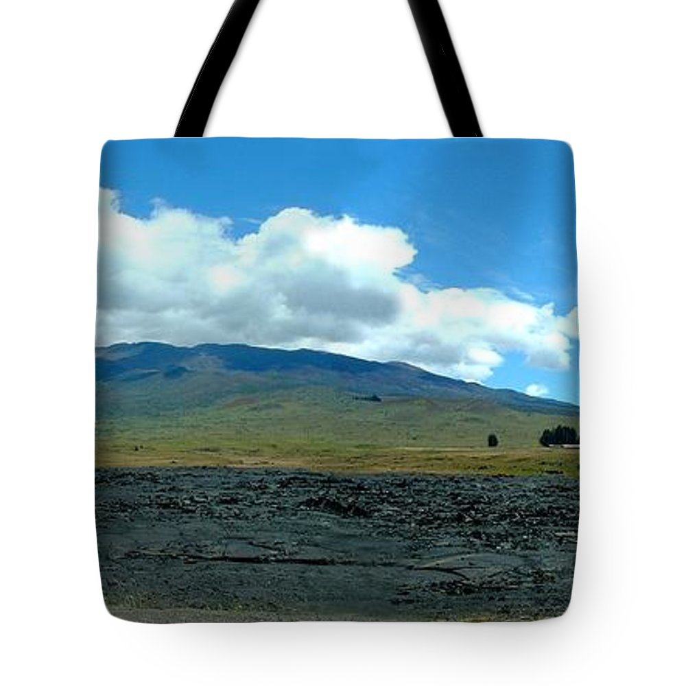 Landscape Tote Bag featuring the photograph Mauna Loa Panorama by D Nigon