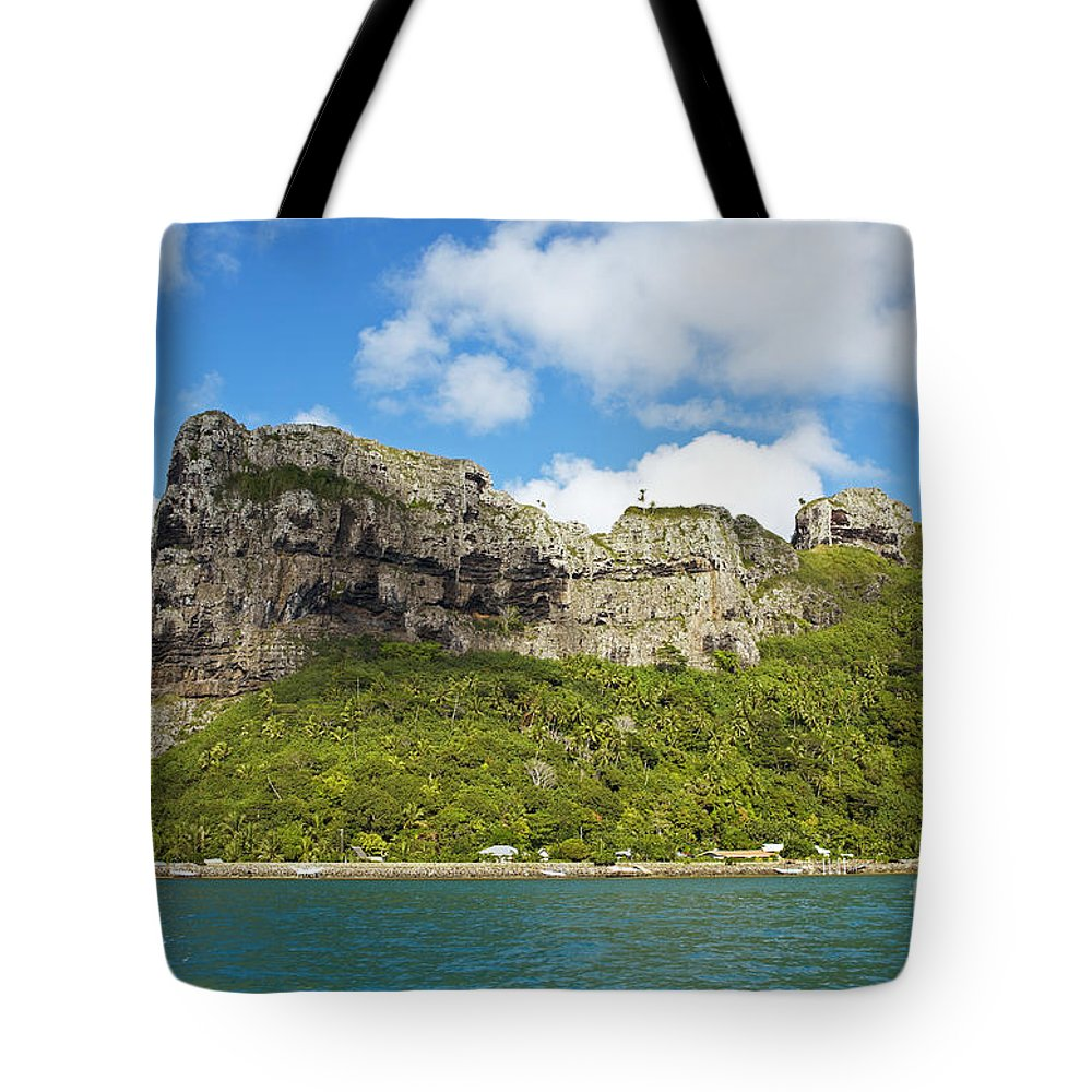 Beautiful Tote Bag featuring the photograph Maupiti Island Cliff by Kyle Rothenborg - Printscapes