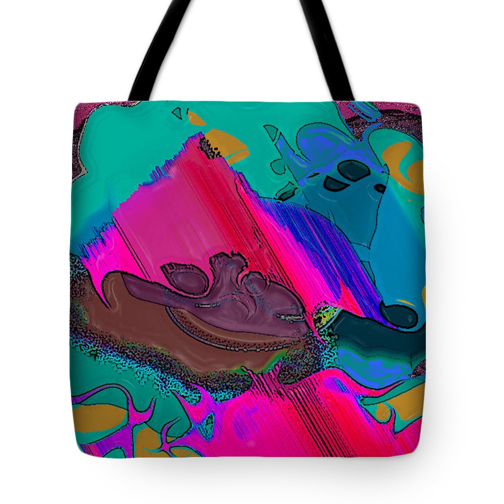 Ebsq Tote Bag featuring the digital art Mauve Abstract by Dee Flouton