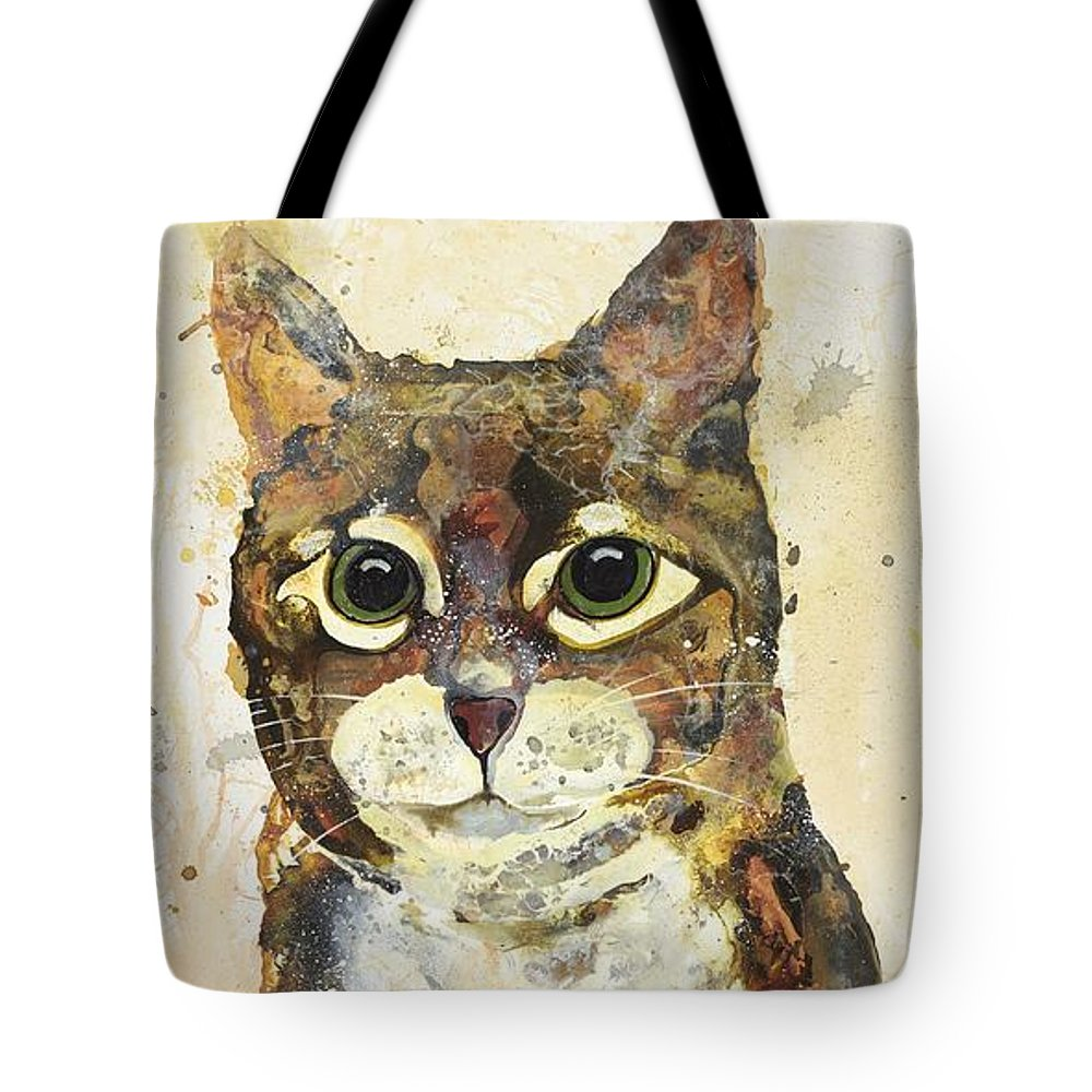 Cat Tote Bag featuring the painting Max by Kasha Ritter