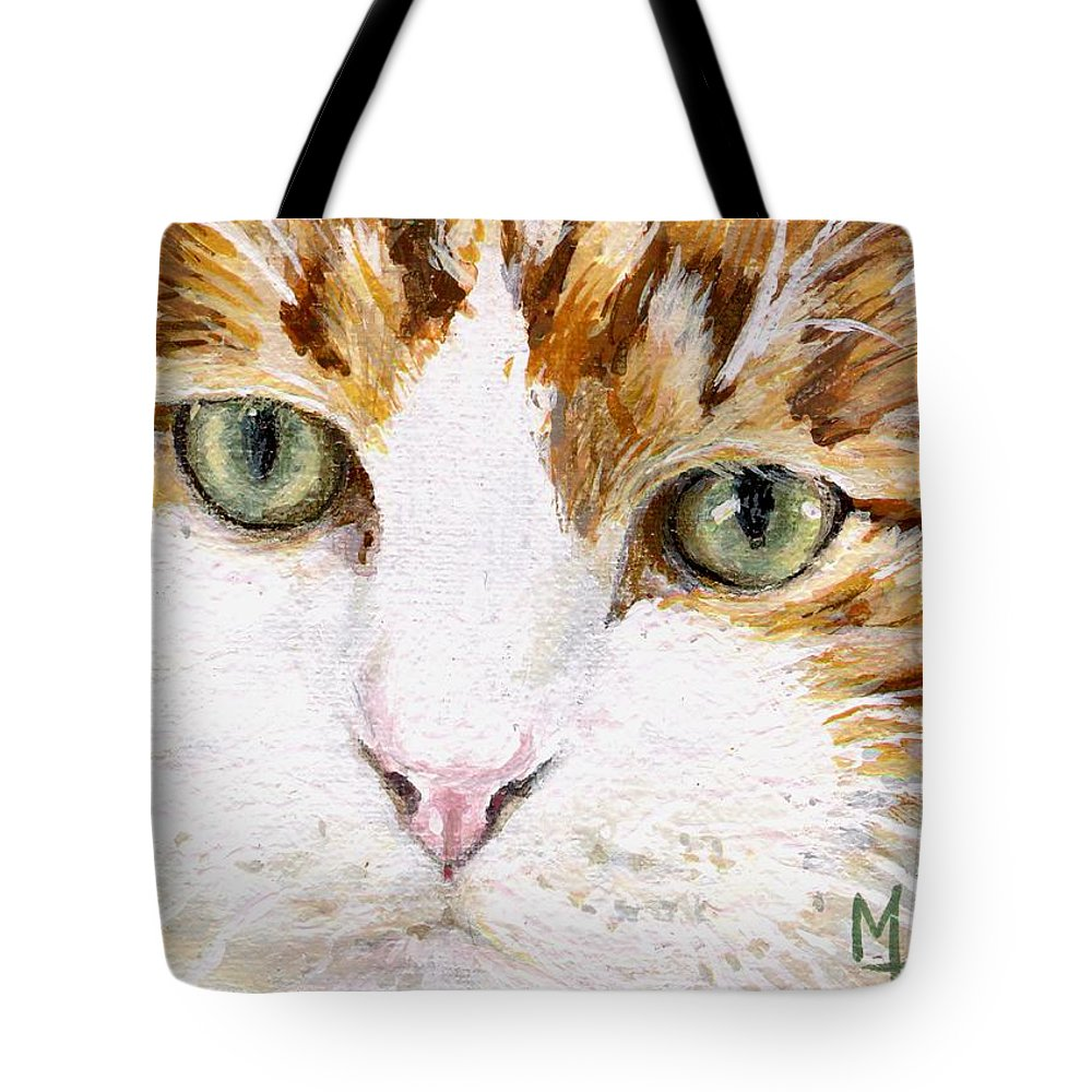 Charity Tote Bag featuring the painting Max by Mary-Lee Sanders