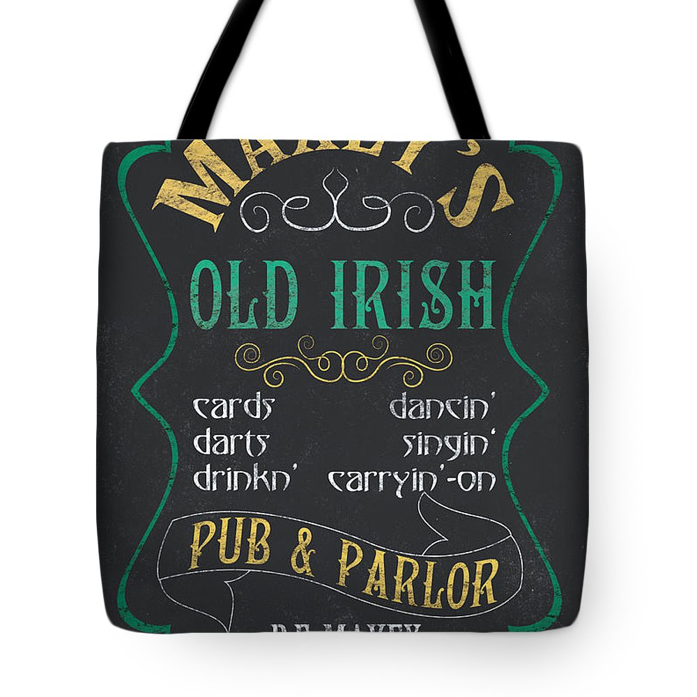 Pub Mixed Media Tote Bags