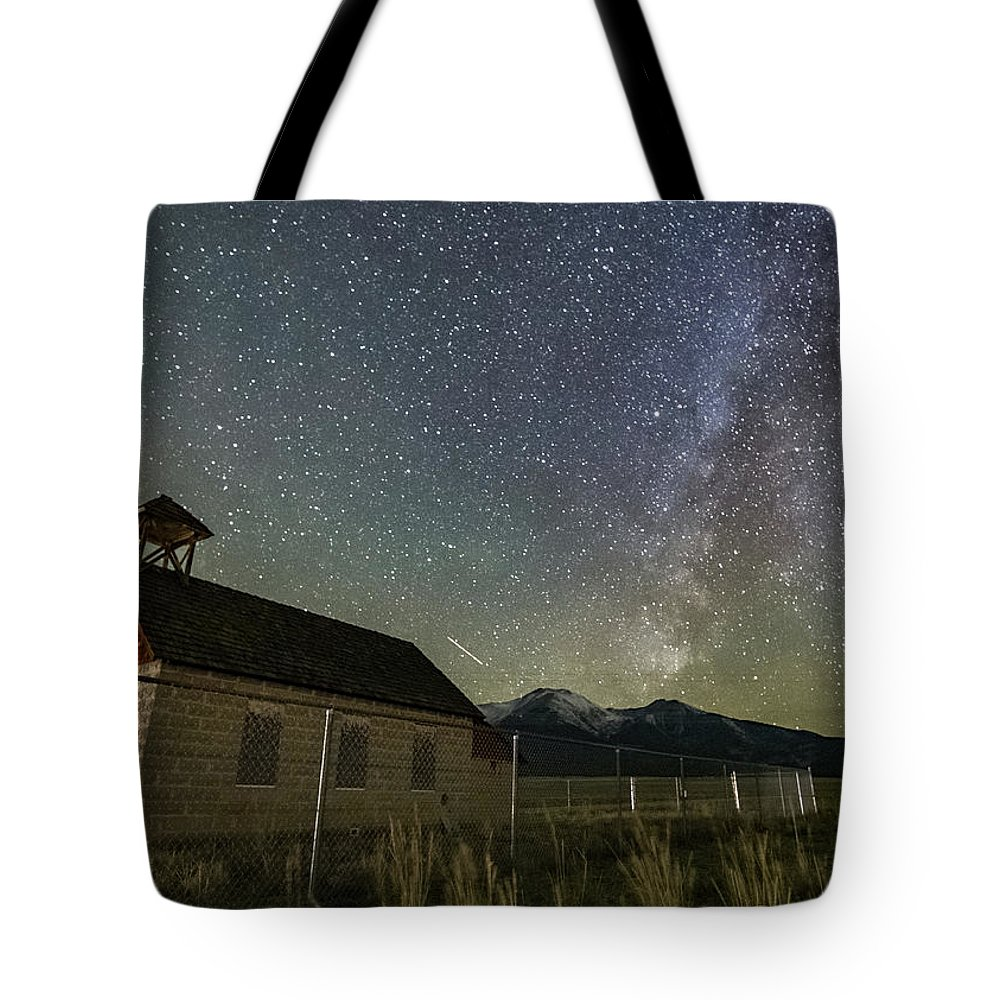 Tote Bag featuring the photograph Maxwell Park Schoolhouse by Logan Myers