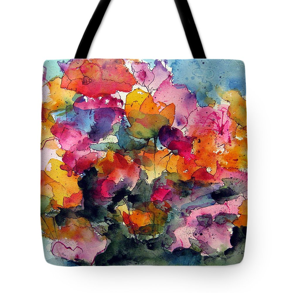 Floral Watercolor Tote Bag featuring the painting May Flowers by Anne Duke