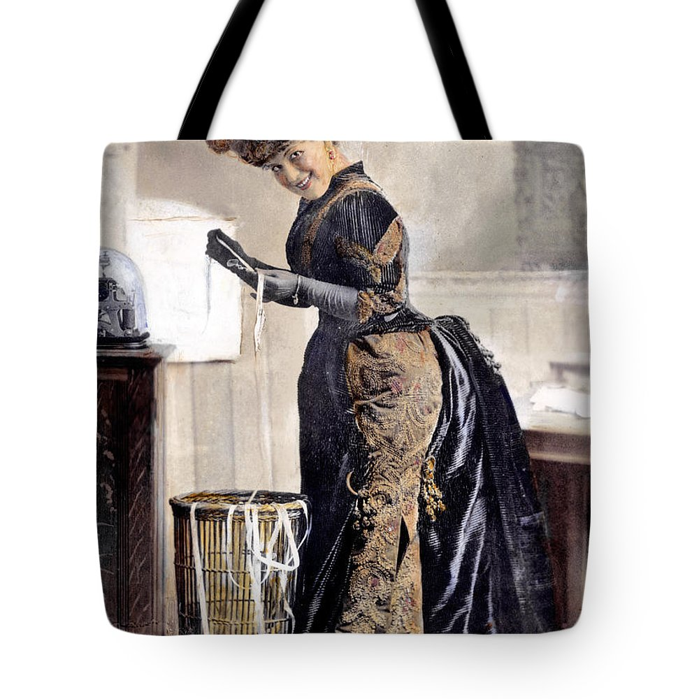 1890 Tote Bag featuring the photograph May Waldron by Granger