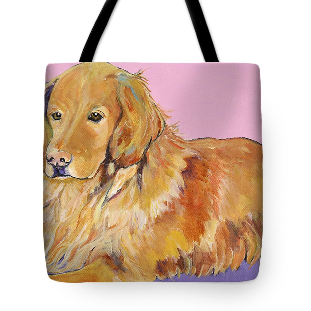 Golden Retriever Tote Bag featuring the painting Maya by Pat Saunders-White